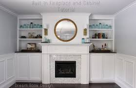 Built In Bookshelves With Window Seat Built In Fireplace And Cabinets Tutorial Dream Book Design