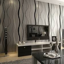 buy simple three dimensional non woven wallpaper wavy stripes