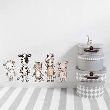 stickstay farmhouse friends wall stickers with animal motifs stickstay farmhouse friends wall stickers with animal motifs