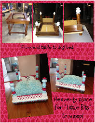 end table dog bed diy from end table to dog bed perfect sleeping quarters find