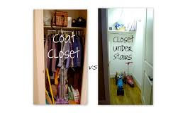 taking the coats out of the coat closet