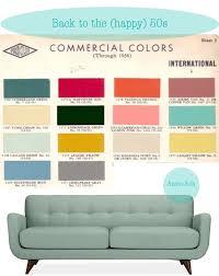 retro colors 1950s 1950s color palette anson sofa via happy interior blog in pink
