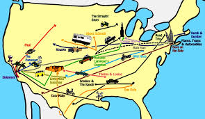 American Route Map by Map Of Road Trips In American Movies What U0027s Missing Movies