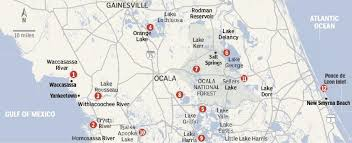 Map Of Ocala Fl Fishing Map Reports From Area Locations Sports Ocala Com