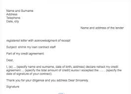 sample cancellation letter personal loan resumedoc