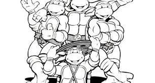 teenage mutant ninja turtles free coloring pages archives