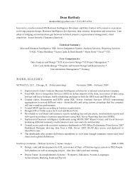 T Sql Resume Dean M Barthuly U0027s Resume