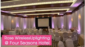 four seasons vancouver wedding uplighting wedding decorations