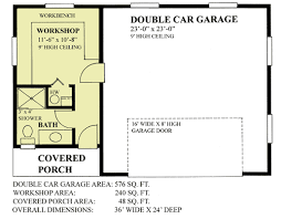 2 car garage with workshop 9830sw architectural designs