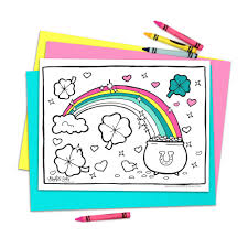 printable st patrick u0027s day rainbow coloring page