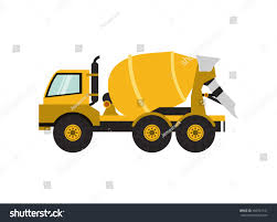 flat design cement mixer truck icon stock vector 466562141