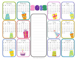 Free Birthday Calendar Template Excel Calendar 2015 Template Free 2017 Printable Calendar