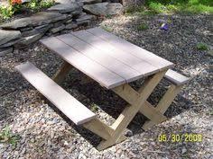 ana white build a build a modern kid u0027s picnic table or x