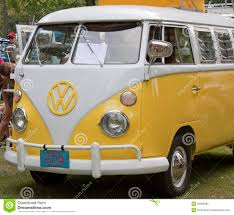 volkswagen van front view yellow u0026 white 1966 vw camper front side view editorial image