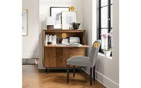 Modern Desk Armoire Hudson Office Armoire In Walnut Modern Office Furniture Room