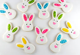 rabbit cookies rabbit cookies with chevron ears and the bearfoot baker