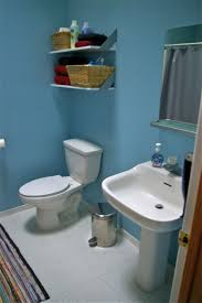 fancy blue kids bathroom painting idea with white interior set