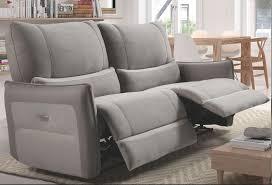 canapé électrique canapé de relaxation 3 places electrique microfibre gris clair barca