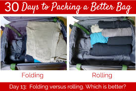 Hawaii how to fold a shirt for travel images Day 13 folding vs rolling her packing list jpg
