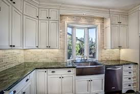 Granite Countertops And Kitchen Tile Kitchen Lovely White Cabinets What Color Granite Countertop And