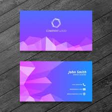 Business Card Design Psd File Free Download Polygonal Business Card Psd File Free Download
