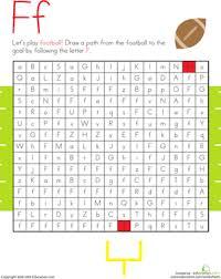 letter maze f worksheet education com