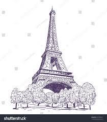paris eiffel tower vector drawing stock vector 327908201