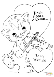 don u0027t fiddle around be my valentine coloring page free