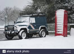 white land rover defender 90 two british icons covered in white snow land rover defender 90