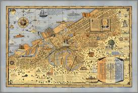 map of cleveland the of cleveland ohio forest city david rumsey