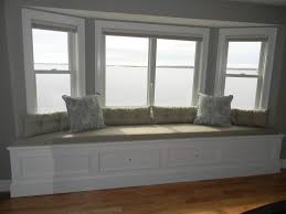 living room amazing bay window seat cushion covers with white