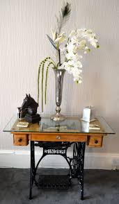 acrylic sewing table insert industrial past and present range side table made from cast iron