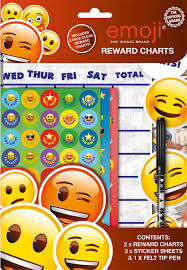 clean emoji 2 emoji themed wipe clean childrens reward charts with stickers