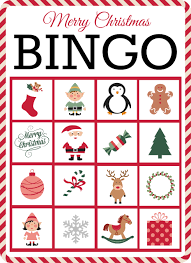 Easy Christmas Games Party - christmas bingo 10 free printable cards christmas seasonal
