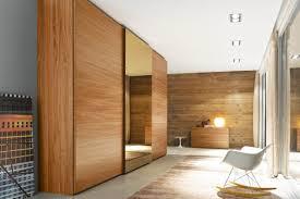 Mirrored Sliding Closet Doors Modern Bedroom With Inova Sliding Wood Closet Doors Wooden Closet