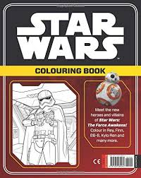 star wars force awakens colouring book star wars colouring
