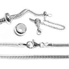 european bracelet chain images Sterling silver 3mm snake bracelet with safety chain jpg