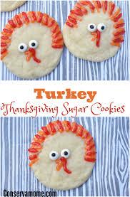 turkey thanksgiving sugar cookies conservamom
