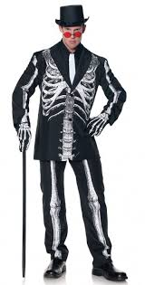 Mens Size Halloween Costumes Size Men U0027s Bone Daddy Skeleton Suit Costume Candy Apple