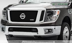 nissan car logo t rex nissan titan upper class 3 pc insert main grille w