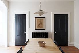 How To Paint An Interior Door How To Make Black Interior Doors Work For You Hunker