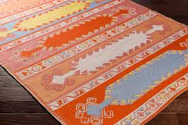 artistic weavers sajal saj 1064 muse poppy red navy blue denim
