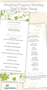 Sample Of Wedding Programs Ceremony Wedding Program Examples And Sample Ceremony Wording Tbrb Info
