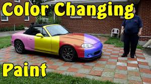 molecular dynamic prismatic color changing automotive paint