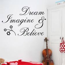 amazon com newsee decals dream imagine believe wall quote sticker