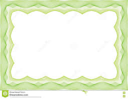 Invitation Card Border Design Green Certificate Or Diploma Template Frame Border Stock Vector