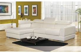 canapé d angle blanc cuir canapé d angle cuir pu avec têtières lena blanc noir chocolat