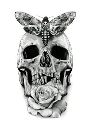 28 best skull and rose tattoo and butterfly stensils images on