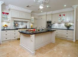 Country Kitchen Ideas White Cabinets Modren Kitchen Tiles Country Style With Seating Wooden Painted
