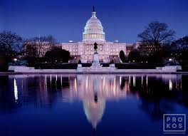 Pool At Night U S Capitol And Reflecting Pool At Night Fine Art Photo Print